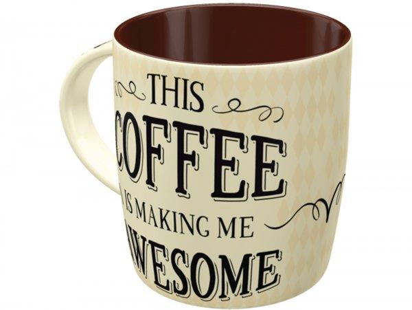 "Mug -Nostalgic Art- ""Awesome Coffee"", Ø=85mm x 90mm, 340ml"