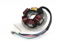 Zündung -BGM PRO Grundplatte HP V2.0- Vespa PX Lusso (ohne Batterie 1984-2011), PX Lusso Elestart (mit Batterie 1998-2011), Cosa - 5 Kabel