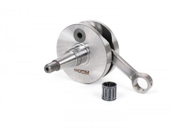 Crankshaft -BGM Pro RACING (for reed valve intake) full circle web, 54mm stroke, 105mm conrod- Vespa PK125 XL2, PK125 ETS (Ø=24mm cone)