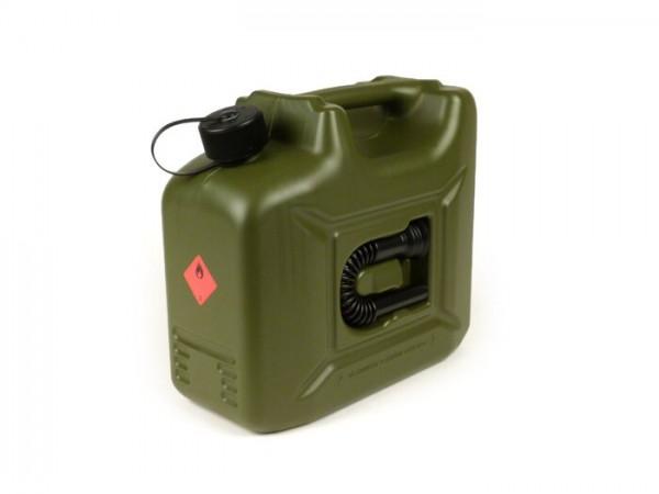 Bidón de gasolina 10l -HÜNERSDORFF PROFI- verde oliva