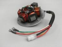 Zündung -PIAGGIO Grundplatte- Vespa PX Lusso Elestart (mit Batterie 1984-1997) - 7 Kabel