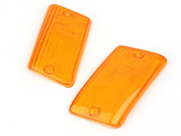 Blinkergläser -BOSATTA 2er Set- Vespa PK50 XL, PK125 XL hinten - orange