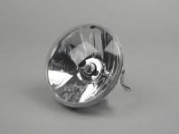 Headlight -PIAGGIO Ø=146mm- Vespa PX EFL (since 2001) - H4, clear glass, left hand traffic