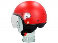 Helmet -VESPA Visor 3.0- matt red profondo (896A) - XS (52-54cm)