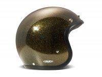 Helmet -DMD Jet Vintage- open face helmet, vintage - Glitter Bronze - M (57-58cm)