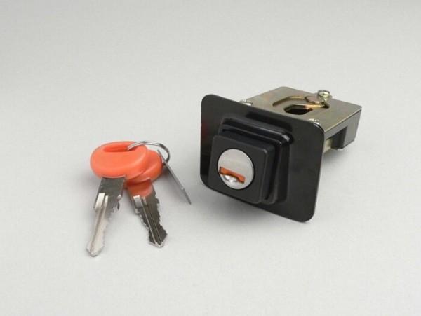 Seat lock -OEM QUALITY- Vespa PX EFL, T5 125cc - black