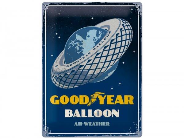 """Reklameschild -Nostalgic Art- """"Goodyear - Balloon Tire"""", 30x40cm"""
