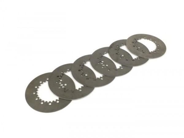 Kupplungsstahlscheibe -PIAGGIO Vespa-Typ 6-Federn- Vespa PX80, PX125, PX150, TS, Sprint, GT, GTR, Super, GL, GS150 (VS5T), VNA2T (081469-), VNB, VBA, VBB  - 6 x 1,5mm