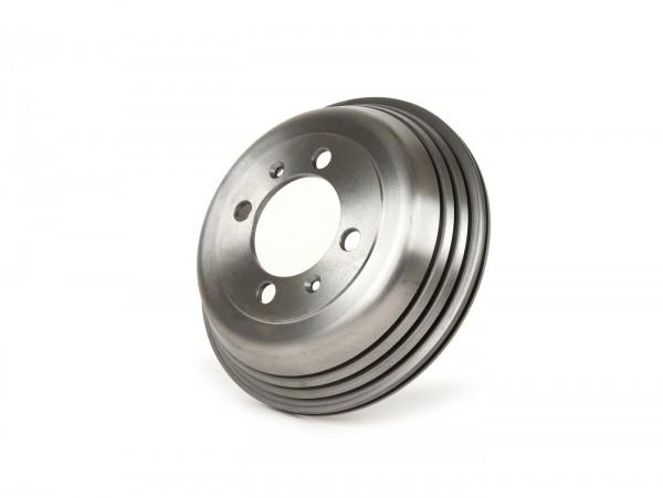 Brake drum, rear -BGM PRO cast iron- Vespa Wideframe V1-15, V30-33, VU, VM, VN, VL, VB, VBA, VBB, VNA, VNB, ACMA, Hoffmann