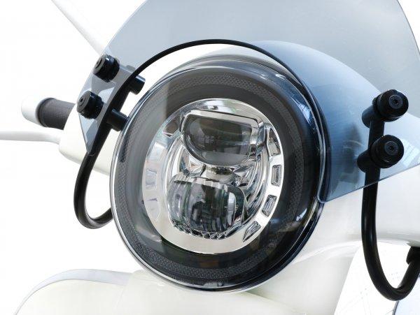 Scheinwerfer -MOTO NOSTRA- LED HighPower - GTS i.e. Super 125-300 - (-2018, auch passend für GT, GTS, GTL) - verchromter Reflektor