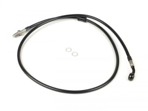 Bremsleitung vorne zur original Bremszange -SPIEGLER Leitung: Edelstahl (schwarz), Fitting: Aluminium (schwarz)- Vespa (mit ABS) GTS 125i.e. Super ABS (ZAPM45300, ZAPM45301), Vespa GTS 300 ABS (ZAPM45200, ZAPM45202), Vespa GTS 300i.e. Super
