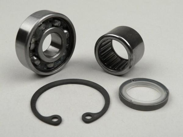 Front hub bearing set (ball bearing and needle roller bearing) -VESPA- PX (-1982) - Ø=16mm