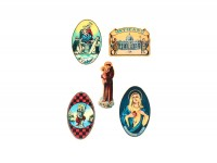 """Wasserschiebebilder - Motiv """"Madonna"""", Bogen DIN A4 mit 5 Motiven"""