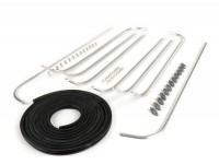 Footboard stripes set -MAURO PASCOLI- Vespa VNB3T, VNB4T, VNB5T, VNB6T, VBB2T -  13,5mm