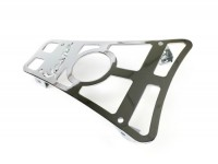 Floor board rack with cup-holder and Vespa logo-CLASSIC RACKS- Vespa GTS 125-300, GTV, GTL, GT - show chrome