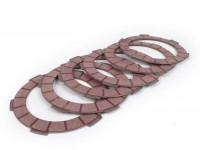Clutch friction plate set -BGM PRO Superstrong Racing Red- Lambretta LI, LIS, SX, TV (series 2-3), DL, GP - 6 plates