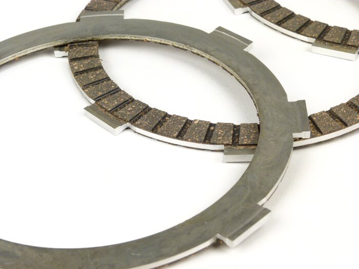 Clutch friction plate set -BGM Pro- type Honda CR80 modified for clutch  Vespa Cosa2/FL (1992-), PX (1995-), Superstrong, Scooter & Service, MMW - 4