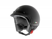 Helmet -HELMO MILANO- Demi jet, FuoriPorta, matt black - M (57cm)