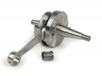 """Cigüeñal -DRT (válvula rotativa), carrera 53mm, biela 105mm, ancho de volante DS=17.4mm- """"tenuta larga"""" - Vespa PK125 XL2, PK125 ETS (cono Ø=24mm)"""