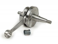 "Crankshaft -DRT (rotary valve), 53mm stroke, 105mm conrod, RV-web 17.4mm wide- ""tenuta larga"" (wider rotary web) - Vespa PK125 XL2, PK125 ETS (Ø=24mm cone)"