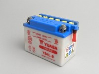 Battery -YUASA YB4L-B- 12V 4Ah - 120x70x92mm (without acid)
