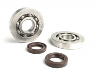 Bearing and oil seal set for crankshaft -BGM ORIGINAL- Piaggio 125-180cc 2-stroke