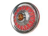 Wheel disc -FA ITALIA Old Style- 10 inch wheels - red