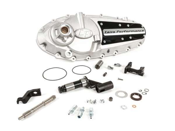 Tapa motor -CASA PERFORMANCE CasaCover- Lambretta GP/DL - placa negra