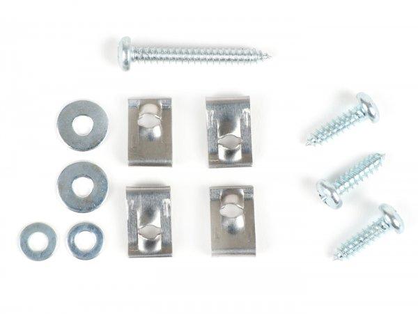 Mounting kit for horn grill -OEM QUALITY- Vespa V50 Special, V50 Elestart