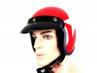 Casque -BANDIT Star Jet- rouge - XS (53-54 cm)