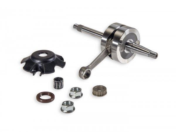 Crankshaft -MALOSSI MHR Team 39,3mm stroke, 85mm conrod- Piaggio 50cc 2-stroke (for 12-13mm gudgeon pin)