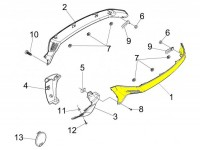 Seitenverkleidung links -PIAGGIO- Vespa GTS, GTV - unlackiert