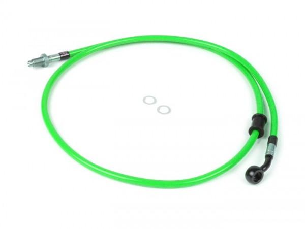 Bremsleitung vorne zur original Bremszange -SPIEGLER Leitung: Edelstahl (grün), Fitting: Aluminium (schwarz)- Vespa (mit ABS) GTS 125i.e. Super ABS (ZAPM45300, ZAPM45301), Vespa GTS 300 ABS (ZAPM45200, ZAPM45202), Vespa GTS 300i.e. Super