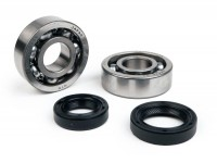 Bearing and oil seal set crankshaft -BGM ORIGINAL- Piaggio 50cc 4-stroke (2005-, Chinese engine)