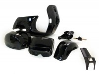 Frame -LML, drum brake- LML Star - including mudguard, side panels, tool box, handlebar, horn cover - black