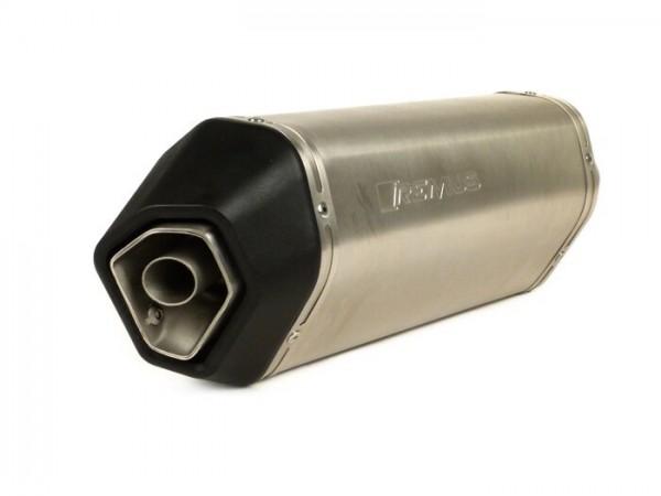Silencer -REMUS- Ø=55mm - Vespa LX 125-150, Vespa LX 125-150ie 2V, Vespa LXV 125-150, Vespa S 125-150, Vespa S 125-150ie 2V -  silver stainless steel