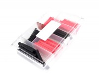 Shrink sleeve set -BWM 60 pcs- red/black - Ø=2,0mm, 3,5mm, 5,0mm