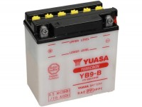Battery -Standard YUASA YB9-B- 12V, 9Ah - 140x80x135mm (without acid)