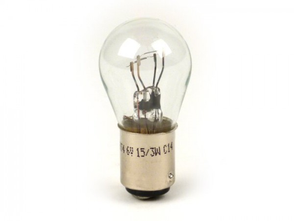 Light bulb -BAY15d- 6V 15/3W - white - used as taillight bulb Lambretta from 1960/61 series 2-3, J, Lui