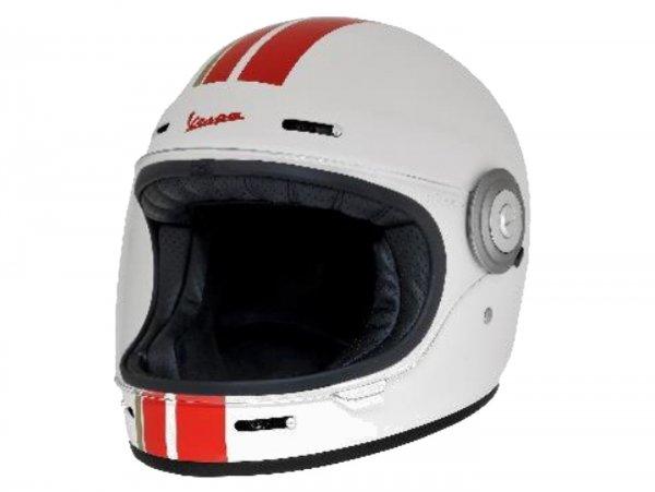 Casco -VESPA casco integrale- Racing Sixties- bianca rosso- XL (61-62 cm)