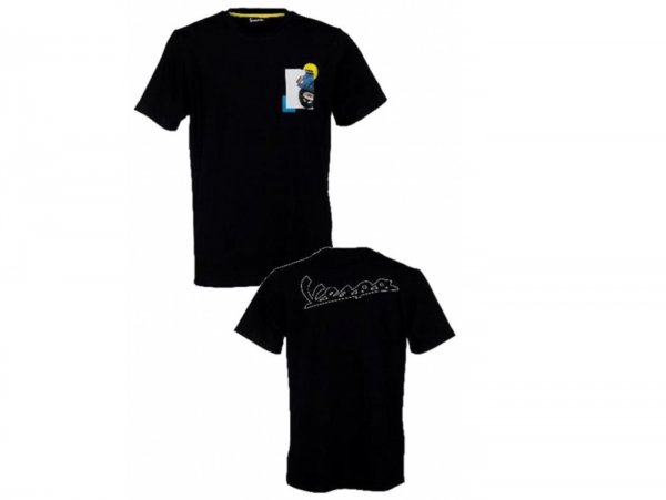"Camiseta -VESPA ""Heritage Collection""- negro - L"