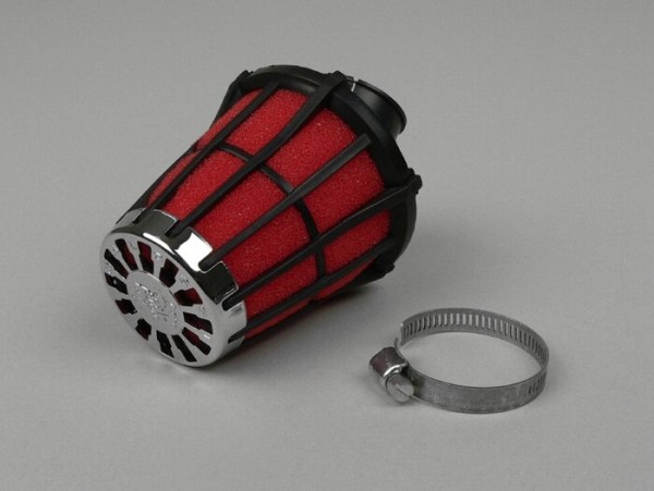 Air filter -MALOSSI E5- 30°, CS= 28mm - red-black
