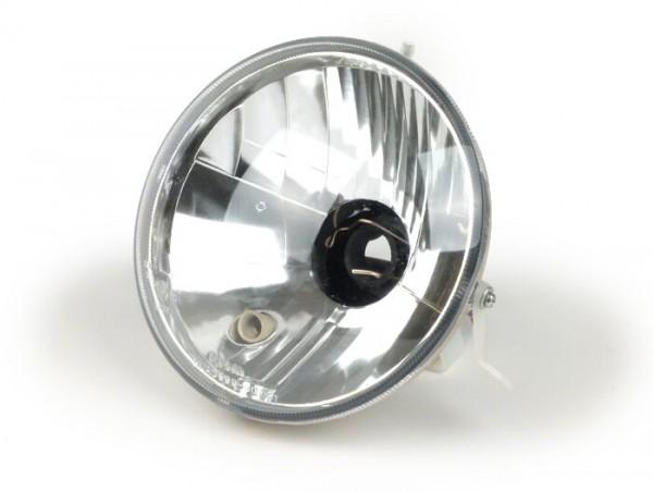 Scheinwerfer -FIEM Ø=146mm- LML Star (verwendbar auf Vespa PX Lusso) - H4, Klarglas, Linksverkehr (mit Prüfzeichen)