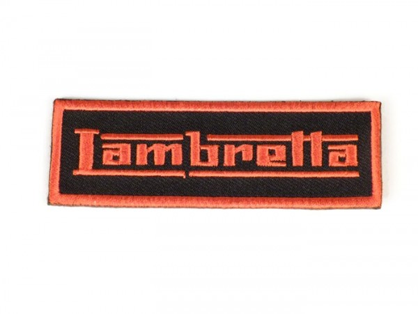 Patch thermocollant -LAMBRETTA- orange - 90x30mm