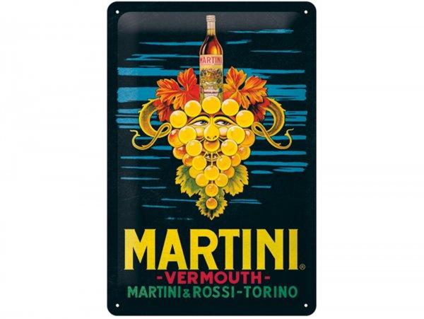 "Reklameschild -Nostalgic Art- ""Martini - Vermouth Grapes"", 20x30cm"