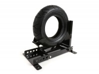 Wheel chock for trailer - scooter stand for front wheel -BGM PRO Vespa, Lambretta, Scooter, Modern Vespa, 8-13 inch tyre- fast and easy parking (requires only one person) of scooter in garage, carport, on trailer or van