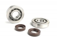 Bearing and oil seal set for crankshaft -BGM ORIGINAL- Piaggio 50cc 2-stroke