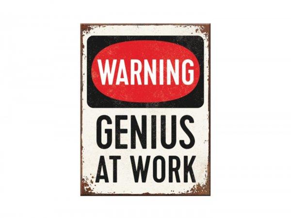 """Magnet -Nostalgic Art- """"Genius at Work"""" - 6x8cm"""