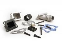 Collettore aspirazione - per valvola lamellare -MALOSSI lamellare 2 fori- Vespa V50, PV125 - attacco=28,5mm