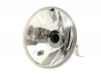 Scheinwerfer -PIAGGIO Ø=146mm- Vespa PX Lusso - H4, Klarglas, Rechtsverkehr (mit Prüfzeichen)
